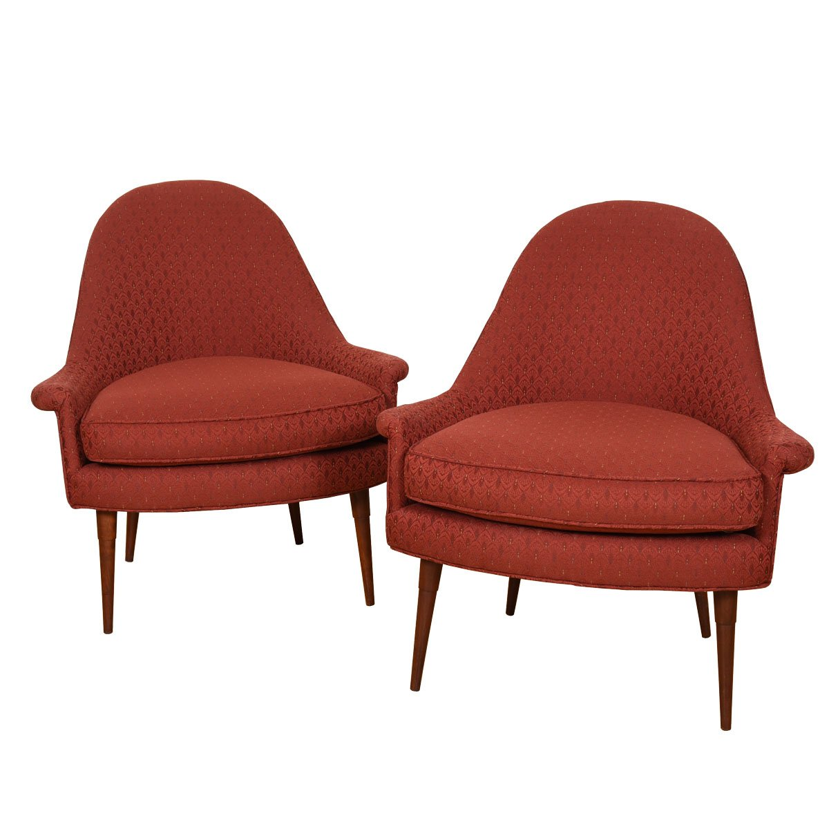 American Modernist Pair of Accent / Club Chairs