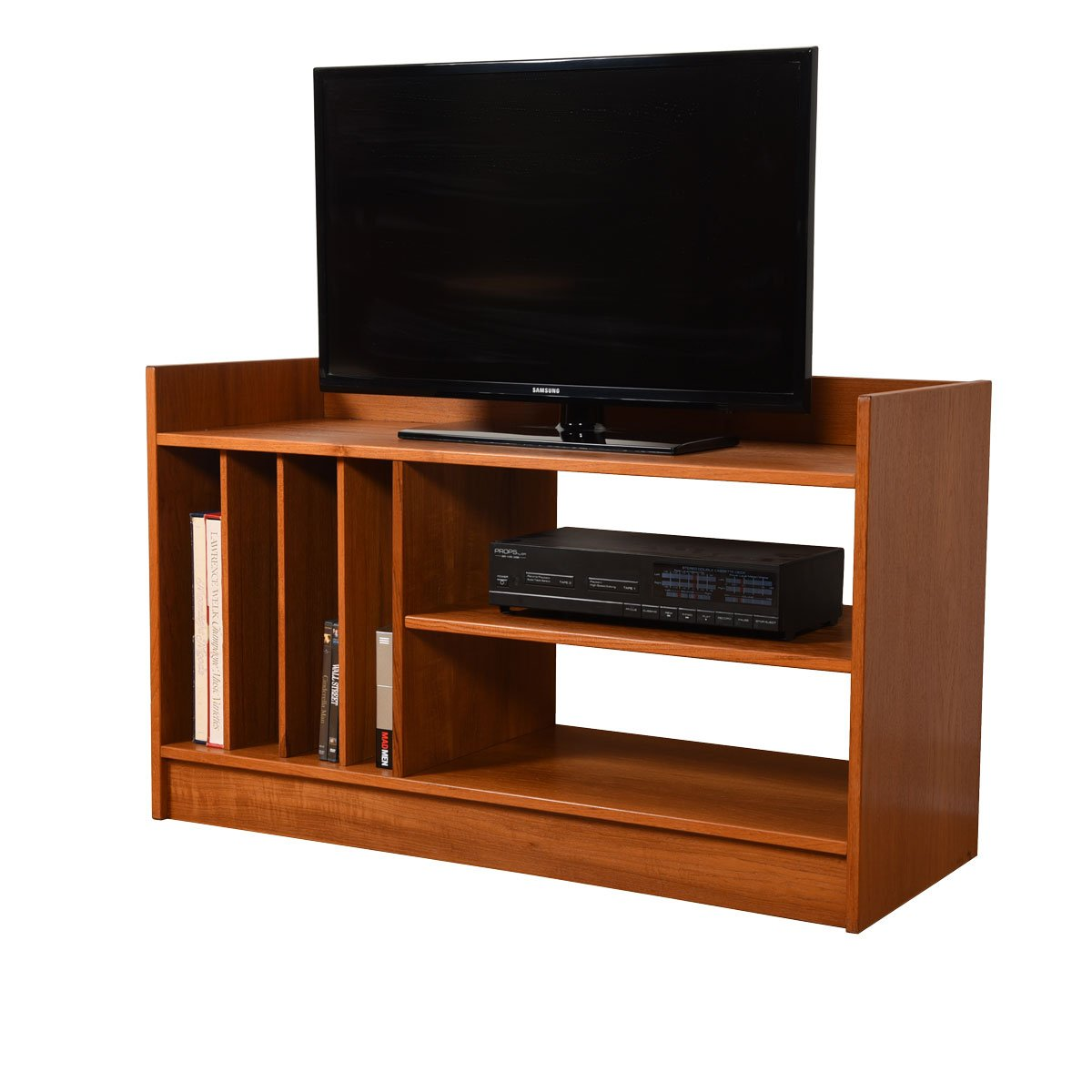 Danish Modern Teak Compact Media / Vinyl Shelf Unit.