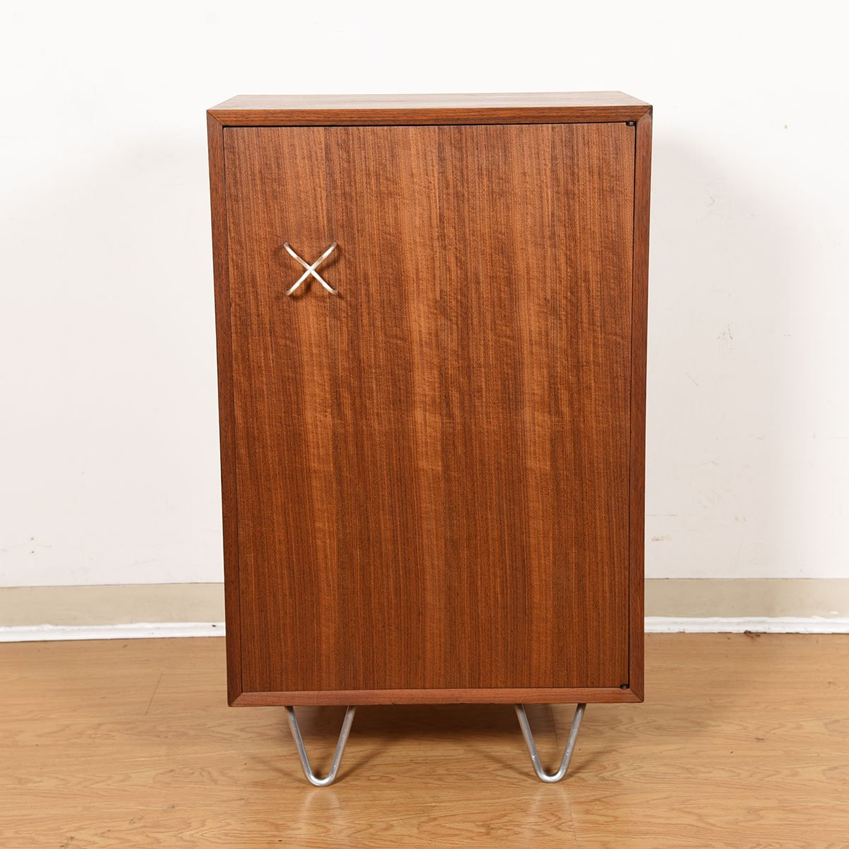 George Nelson for Herman Miller Compact Walnut Bar Cabinet