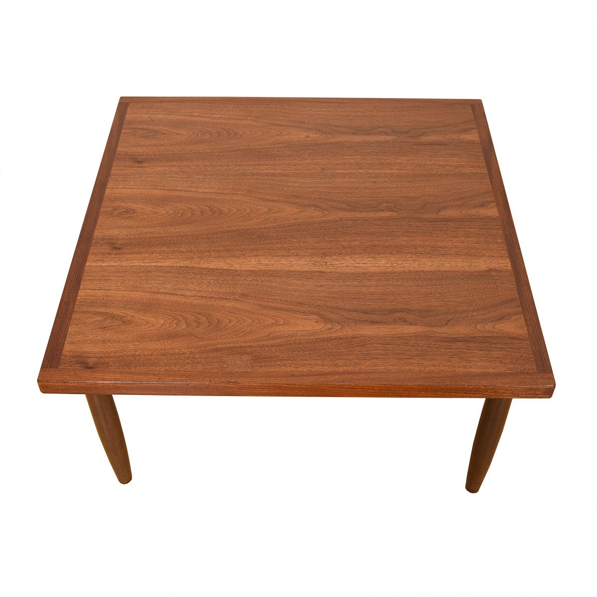 Mid Century Walnut Square Coffee Table