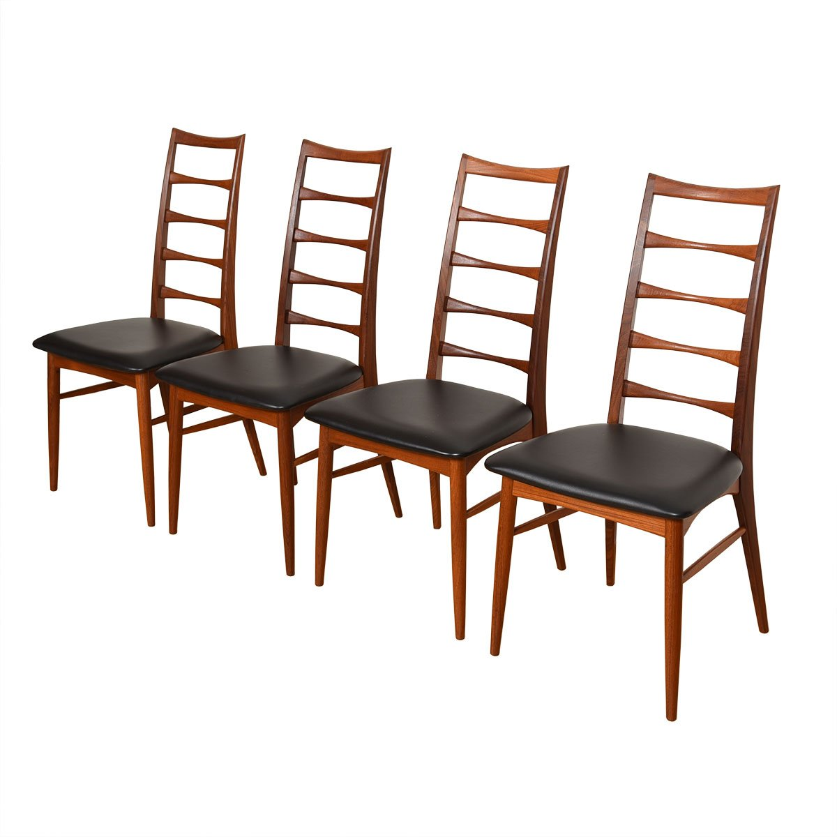 Set of 4-8 Danish Teak Dining Chairs.