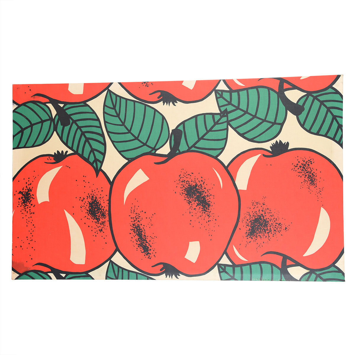 Finnish Textile Panel of Red Apples