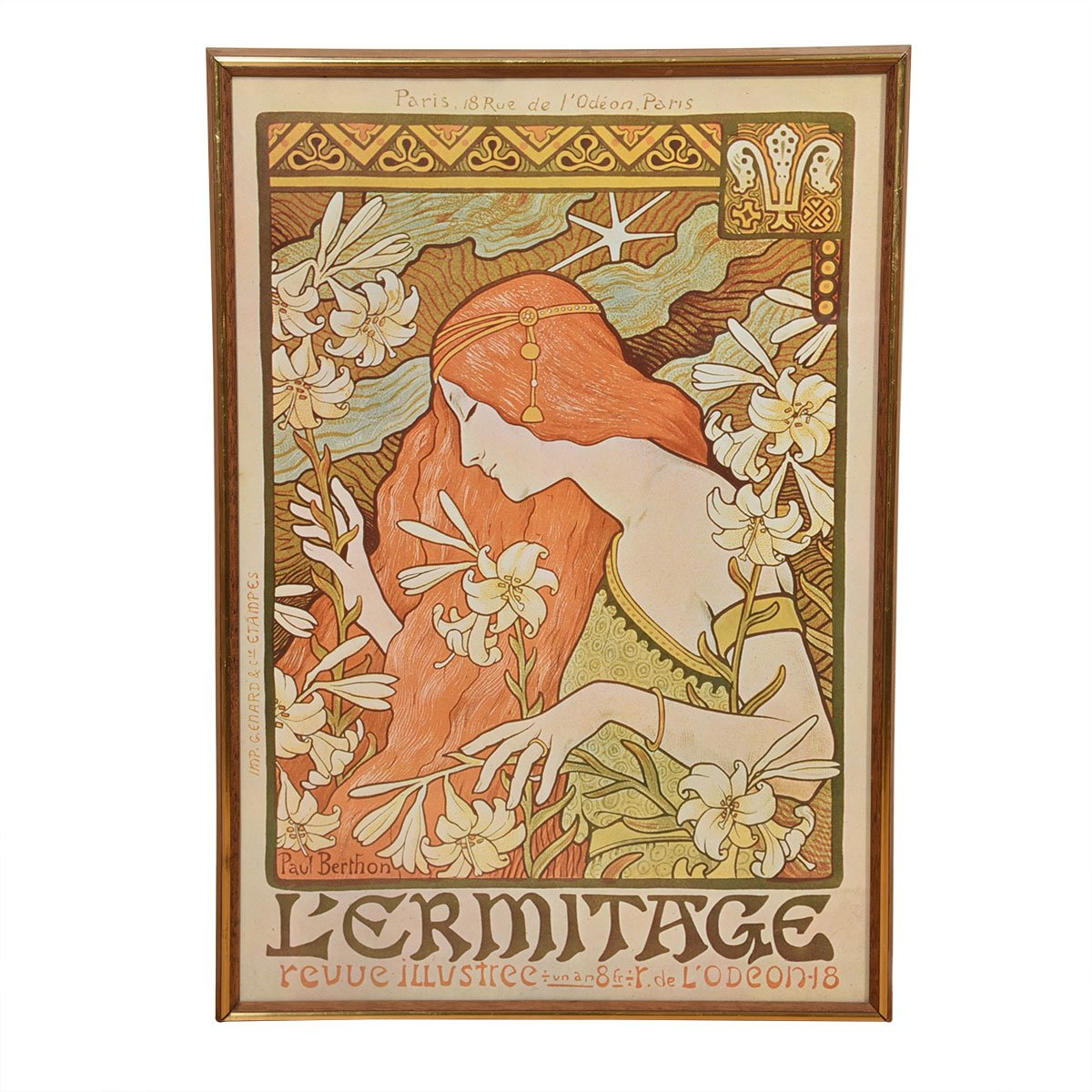 French Art Nouveau Poster, Cover Illustration for Revue Illustree 1897, Paul Berthon