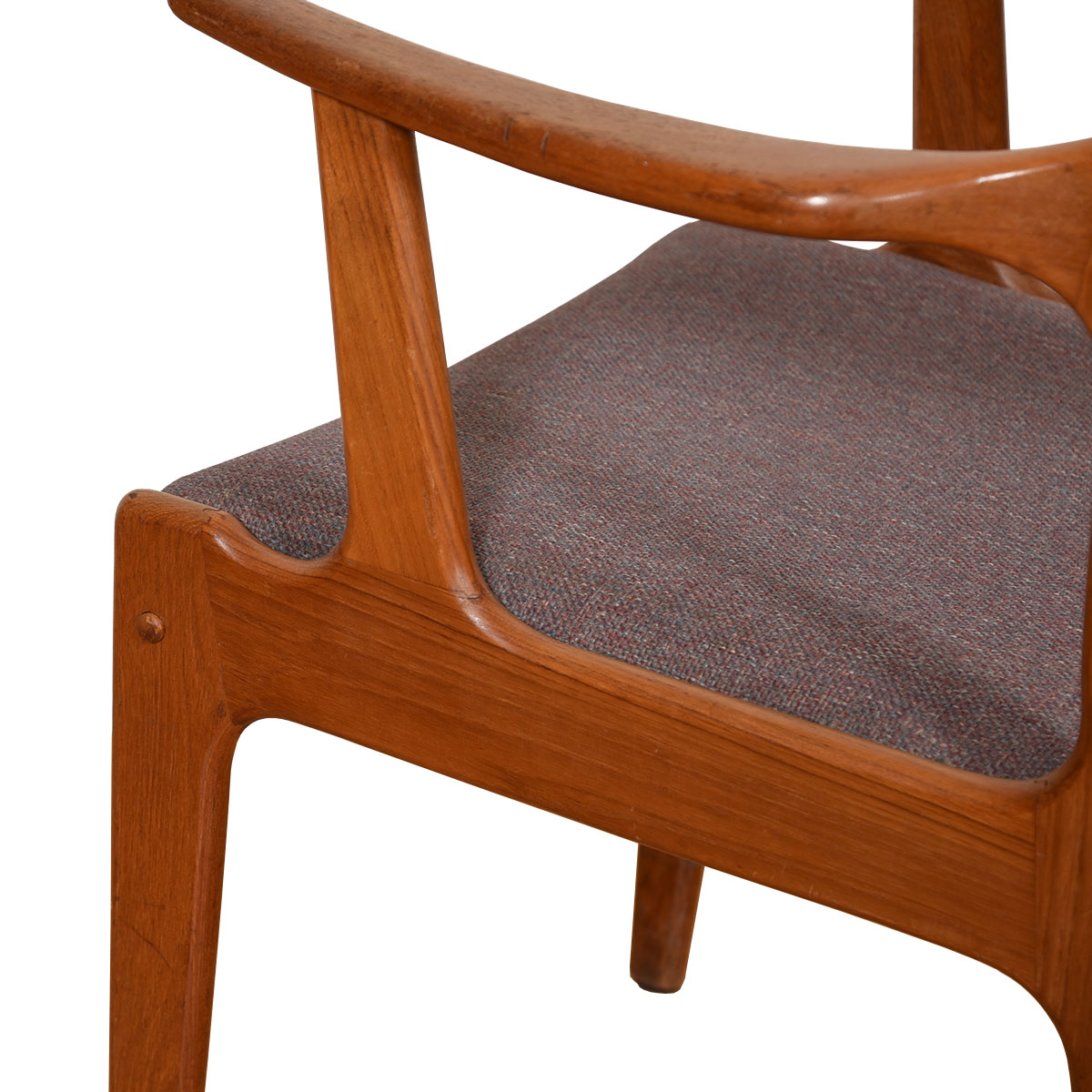 Danish Modern Teak Pair of Dining / Accent Arm Chairs