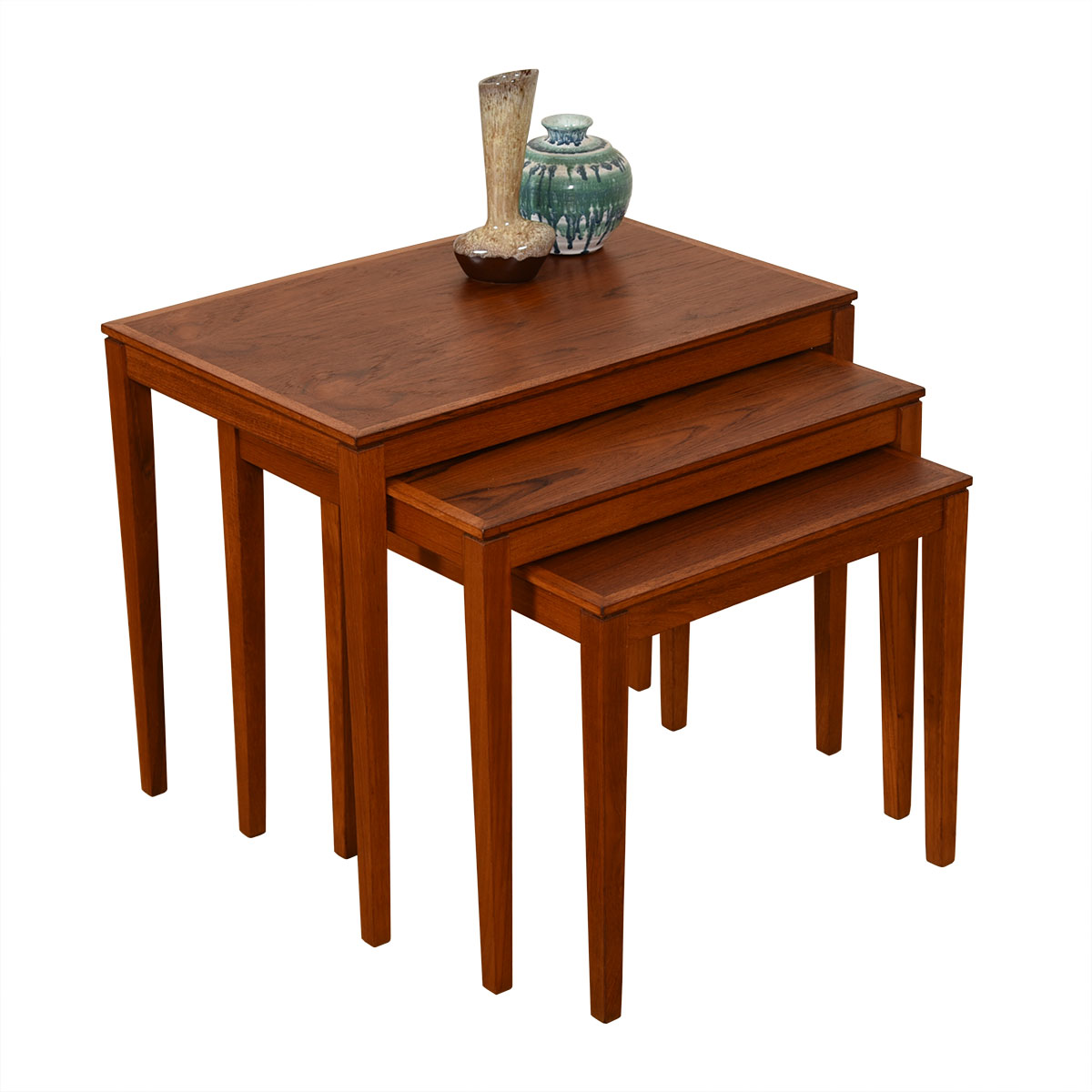 Set of 3 Danish Modern Teak Nesting Tables