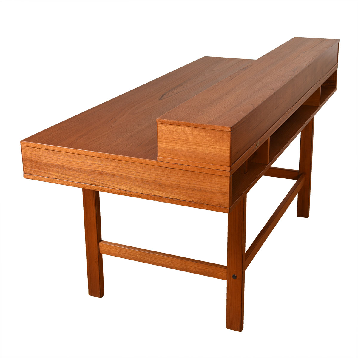 Lovig 'Flip-Top' Danish Modern Teak Partner's Desk.
