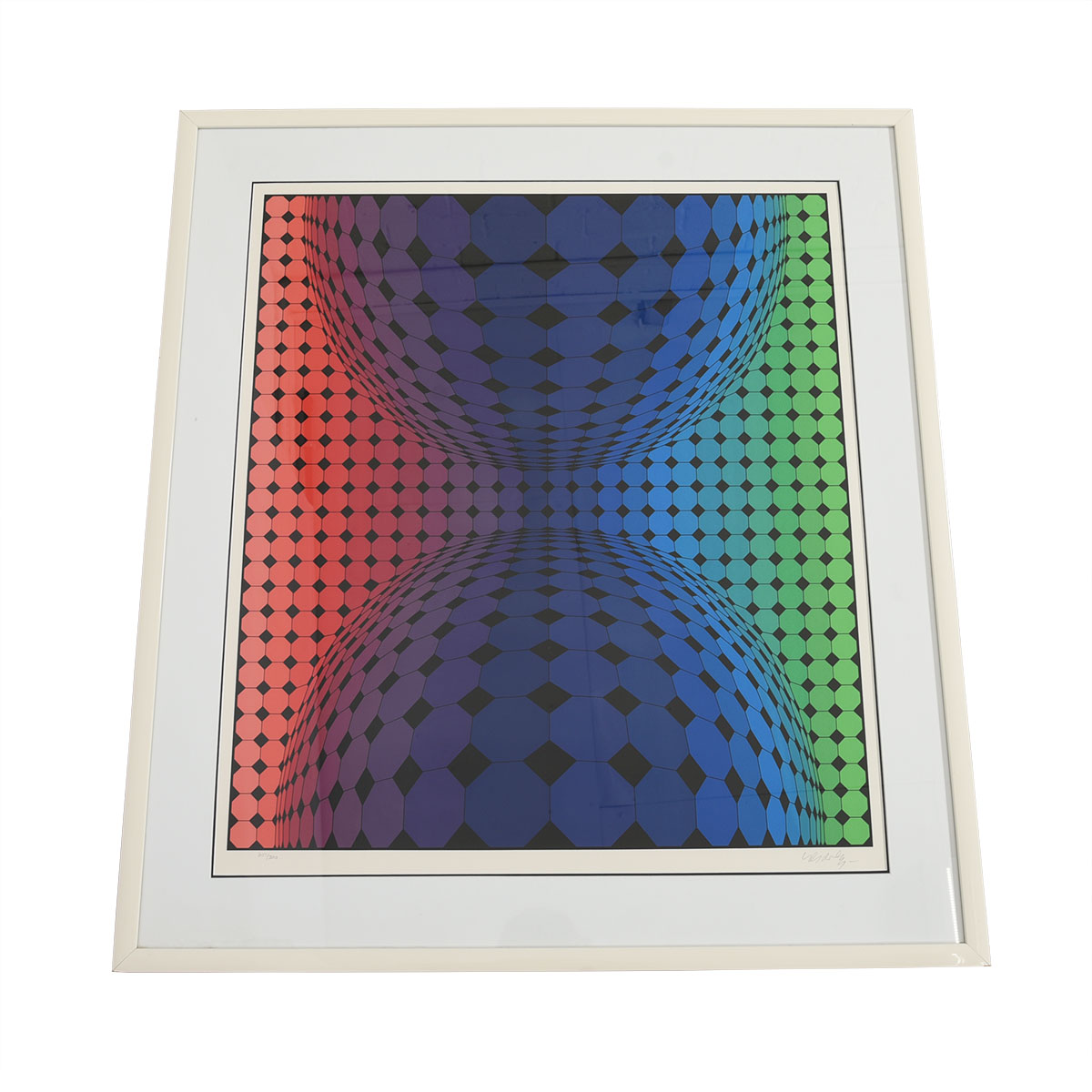 Victor Vasarely – Vintage Limited Edition Op Art Serigraph