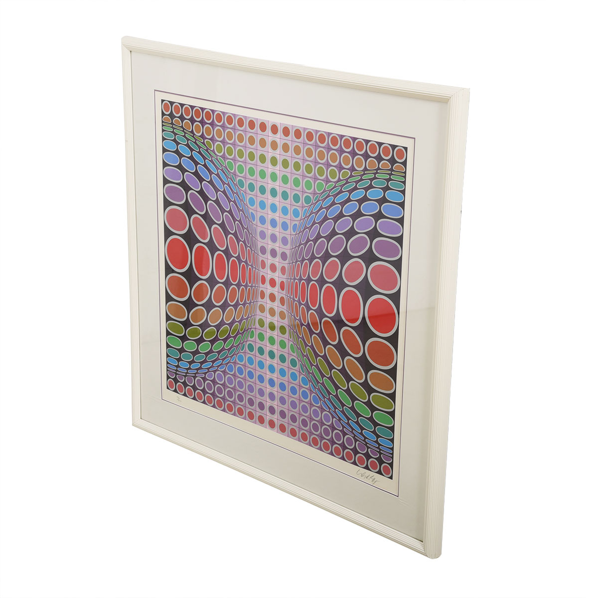 Vintage Victor Vasarely Modernist Geometric Op Artwork