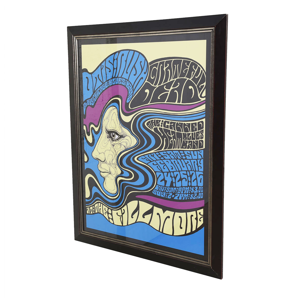 1967 Otis Rush & Chicago Blues Band, Canned Heat & The Grateful Dead at the Fillmore Poster