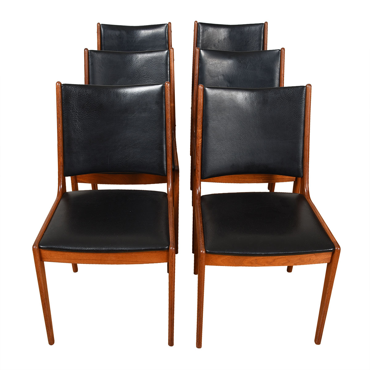 Set of 6 Johannes Andersen Danish Teak Dining Chairs for Uldum Mobelfabrik