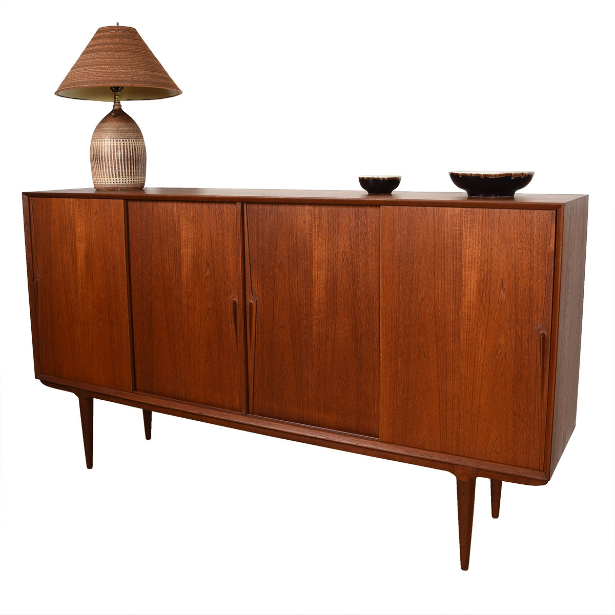 Luscious Danish Modern Teak Highboard / Room Divider