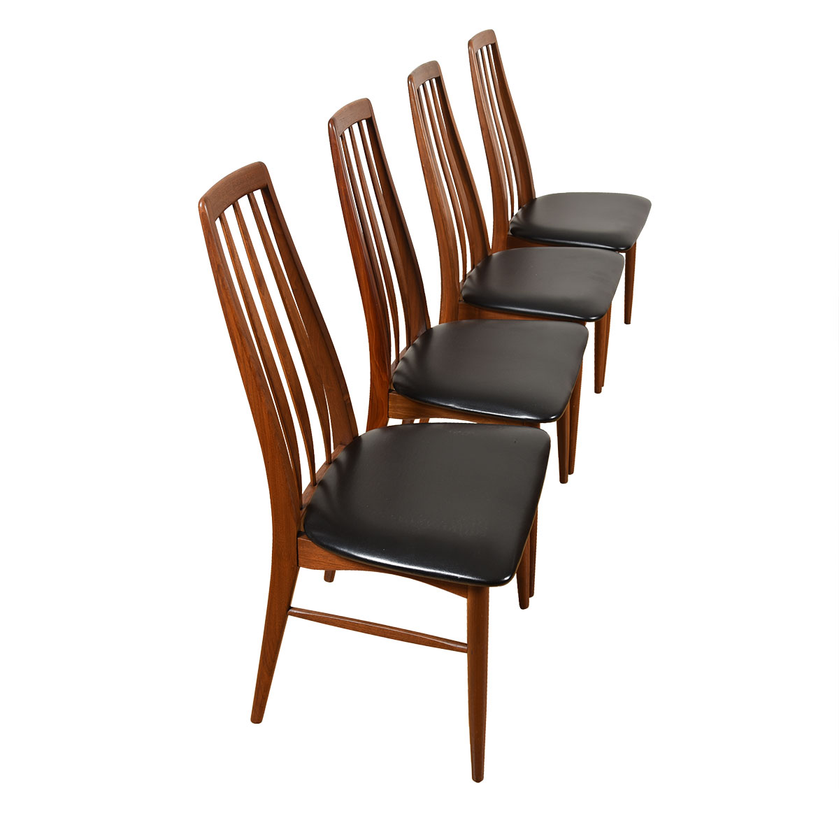 Set of 4 Danish Modern Walnut Dining Chairs