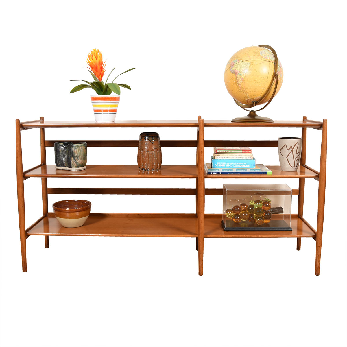 Kipp Stewart Famed Sun Coast Collection for Drexel – 1959 Rare Open Console Bookcase