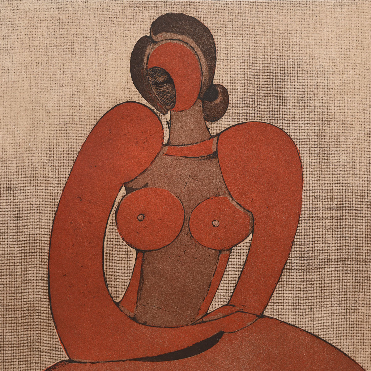Modernist Portrait of a Nude by Domenico Colanzi