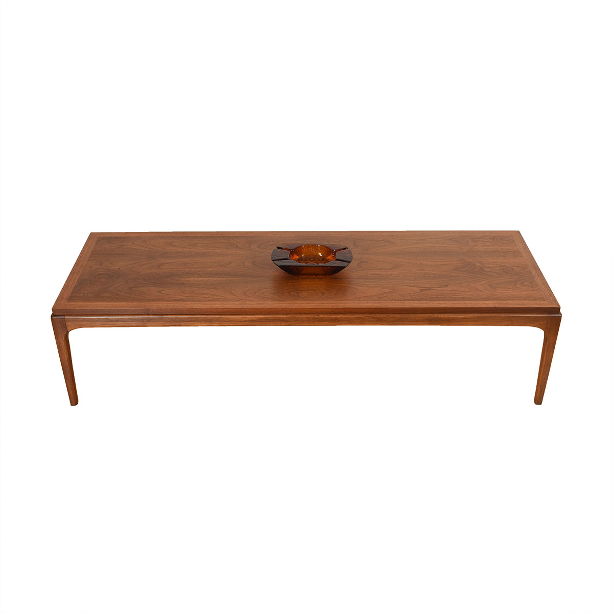 58″ Mid Century Modern Walnut Coffee Table