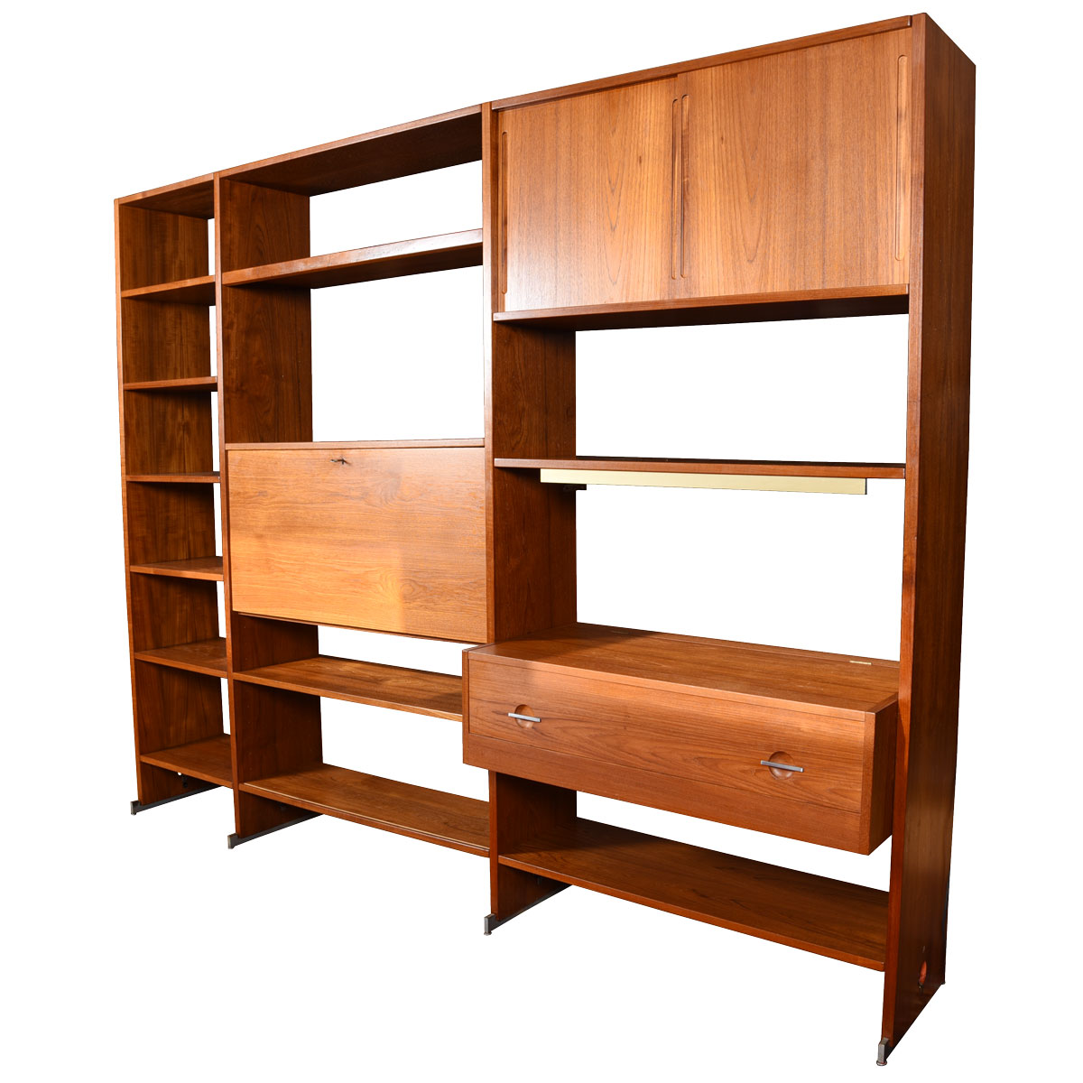 Danish Teak Adjustable Multi-Column Wall Unit / Room Divider by Hans Wegner for Ry Mobler