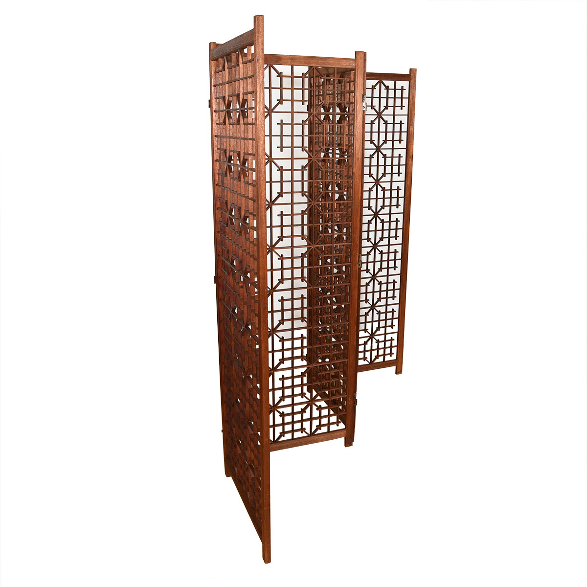 Teak Mid Century Patterned Room Divider