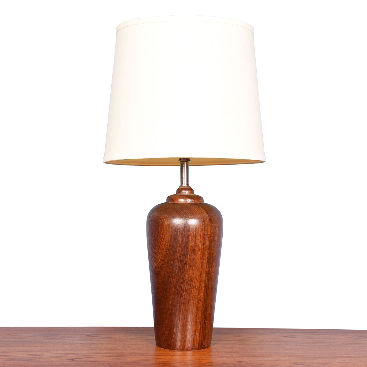 Turned Teak Lamp