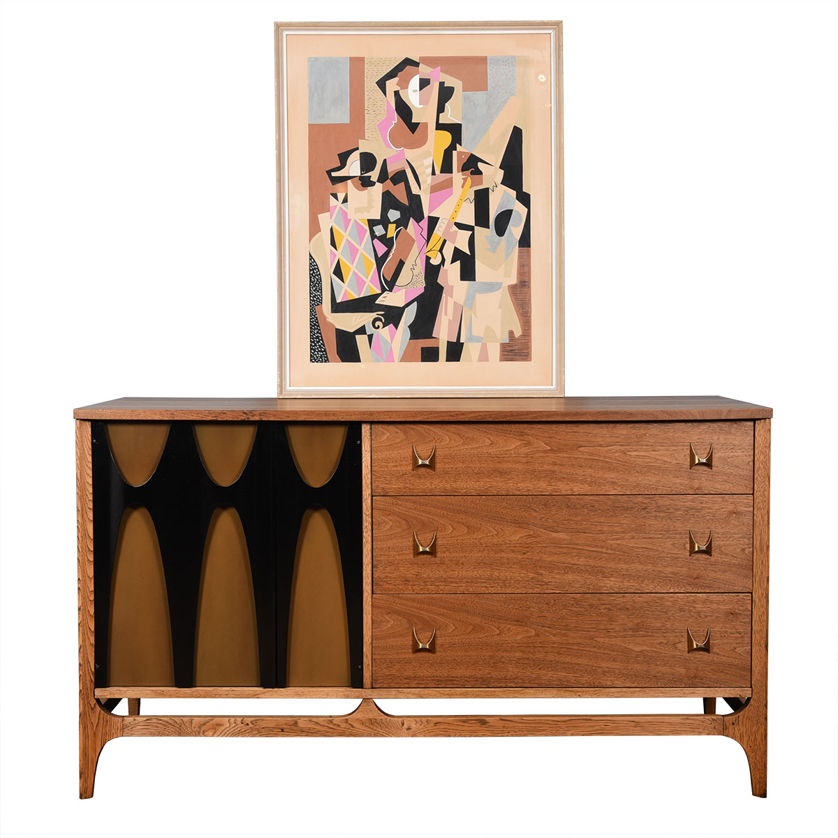 Cubist Mid-century Painting in the Style of Picasso
