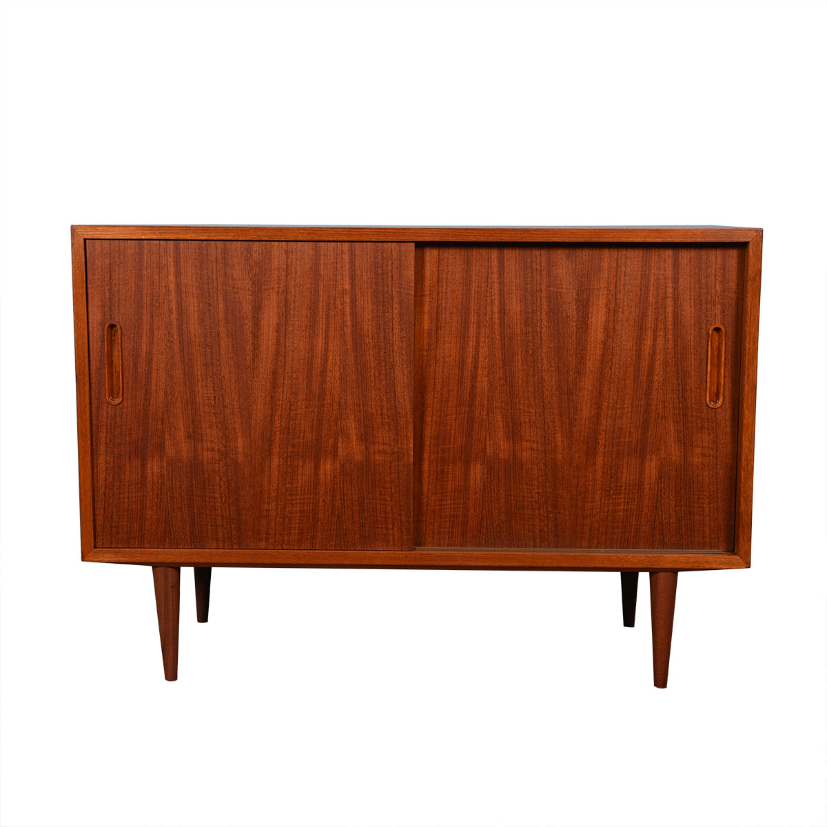 42″ Danish Teak Sliding Door Media Cabinet / Credenza
