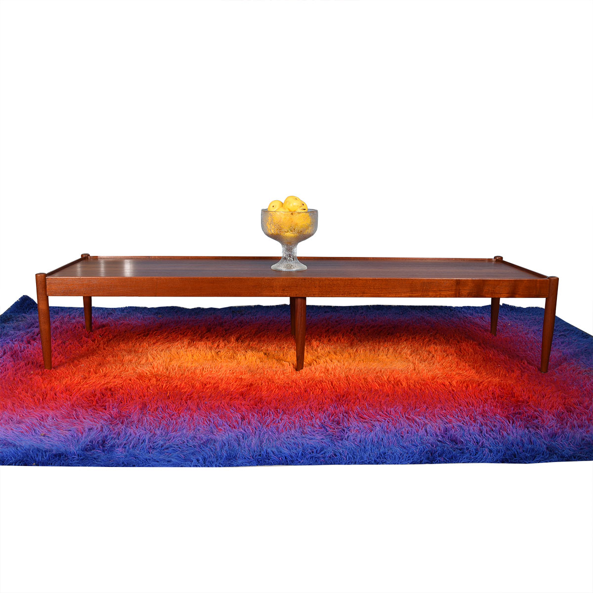 Povl Dinesen Danish Teak Coffee Table / Bench w/ Removable Cushions