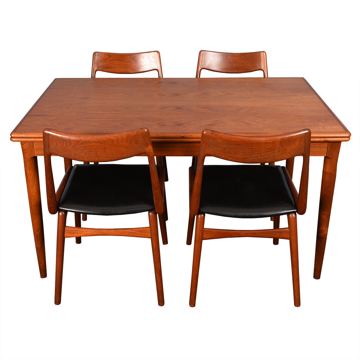 Danish Modern Teak Expanding Dining Table