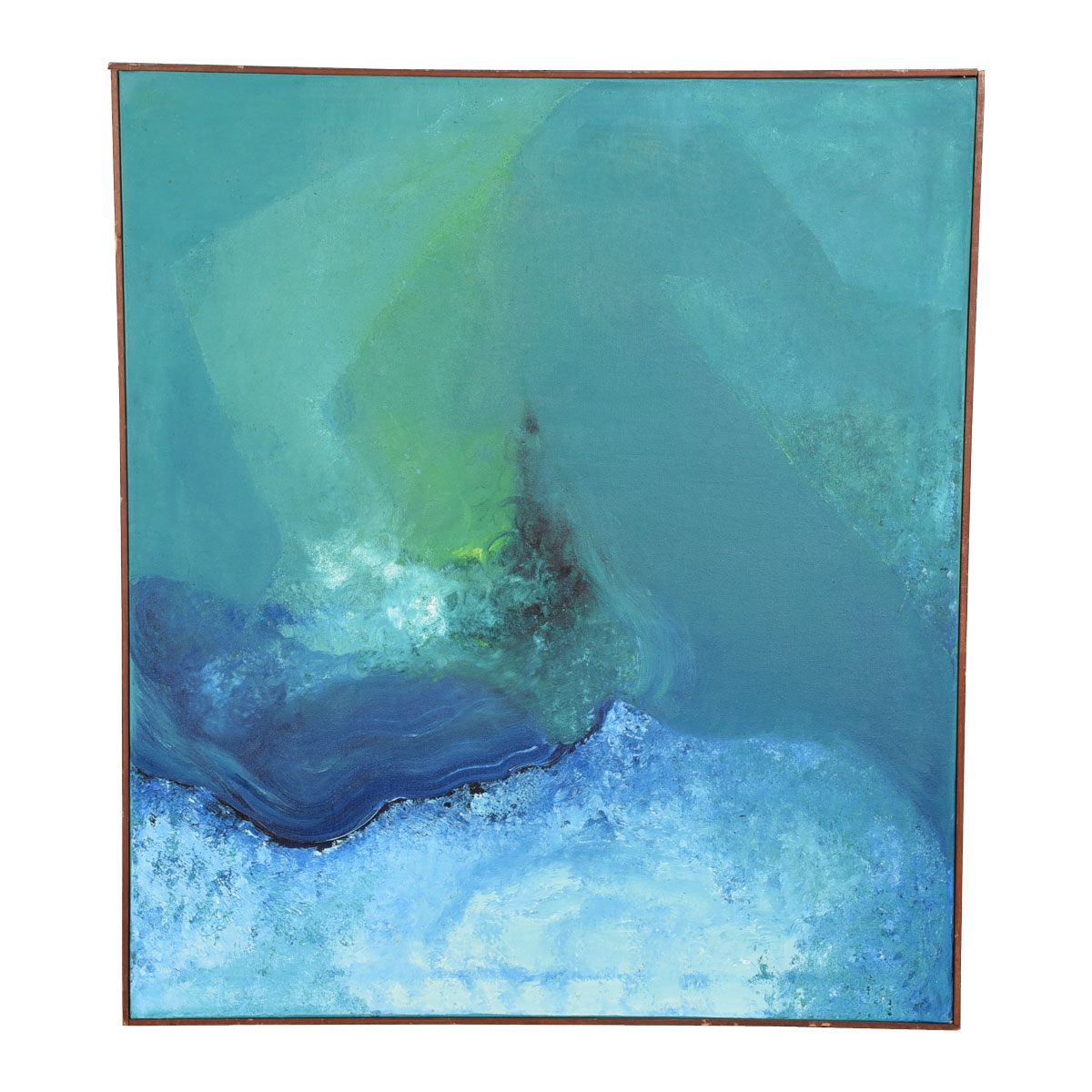 Blue & Green Abstract Painting