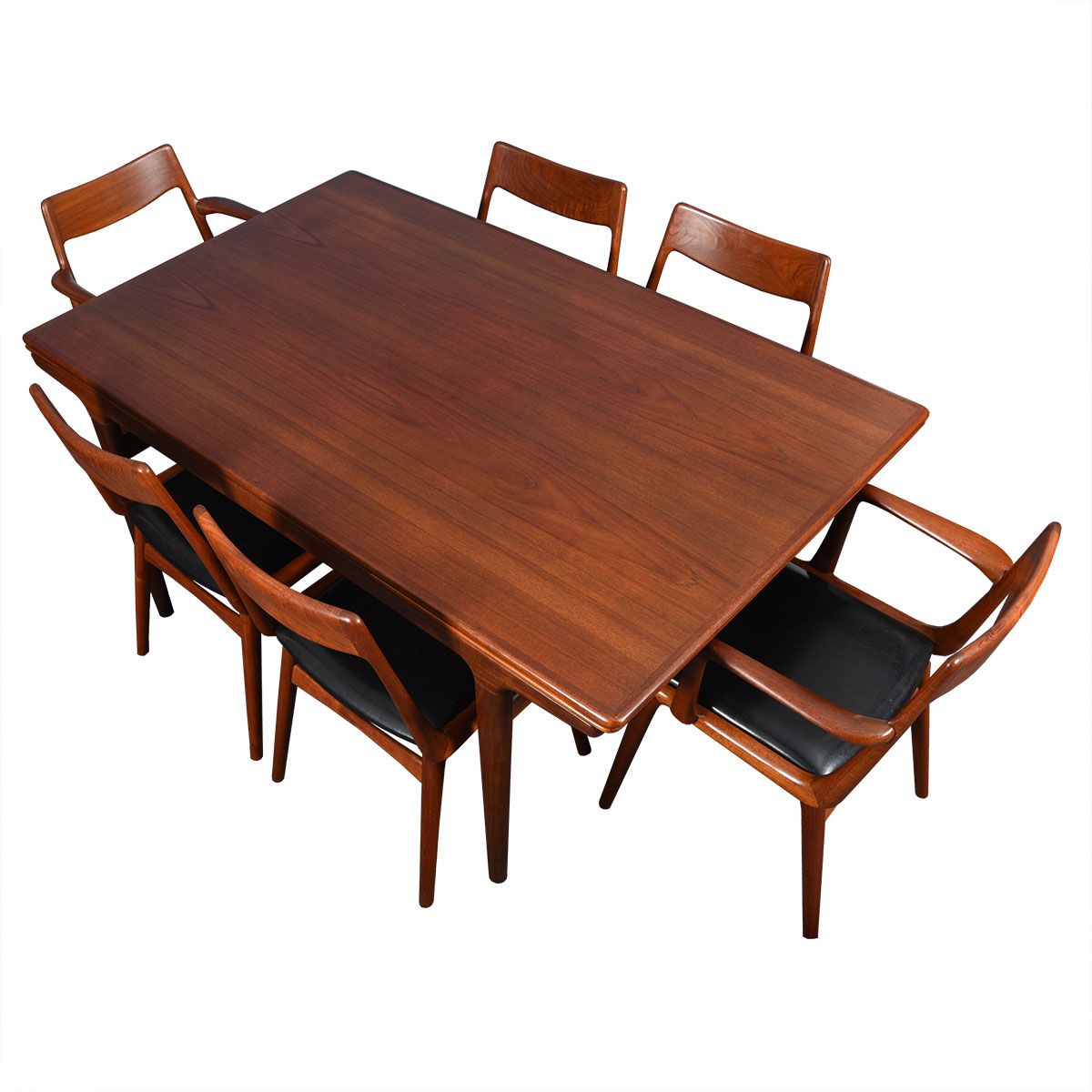 Danish Modern 'Organic' Teak Expanding Dining Table