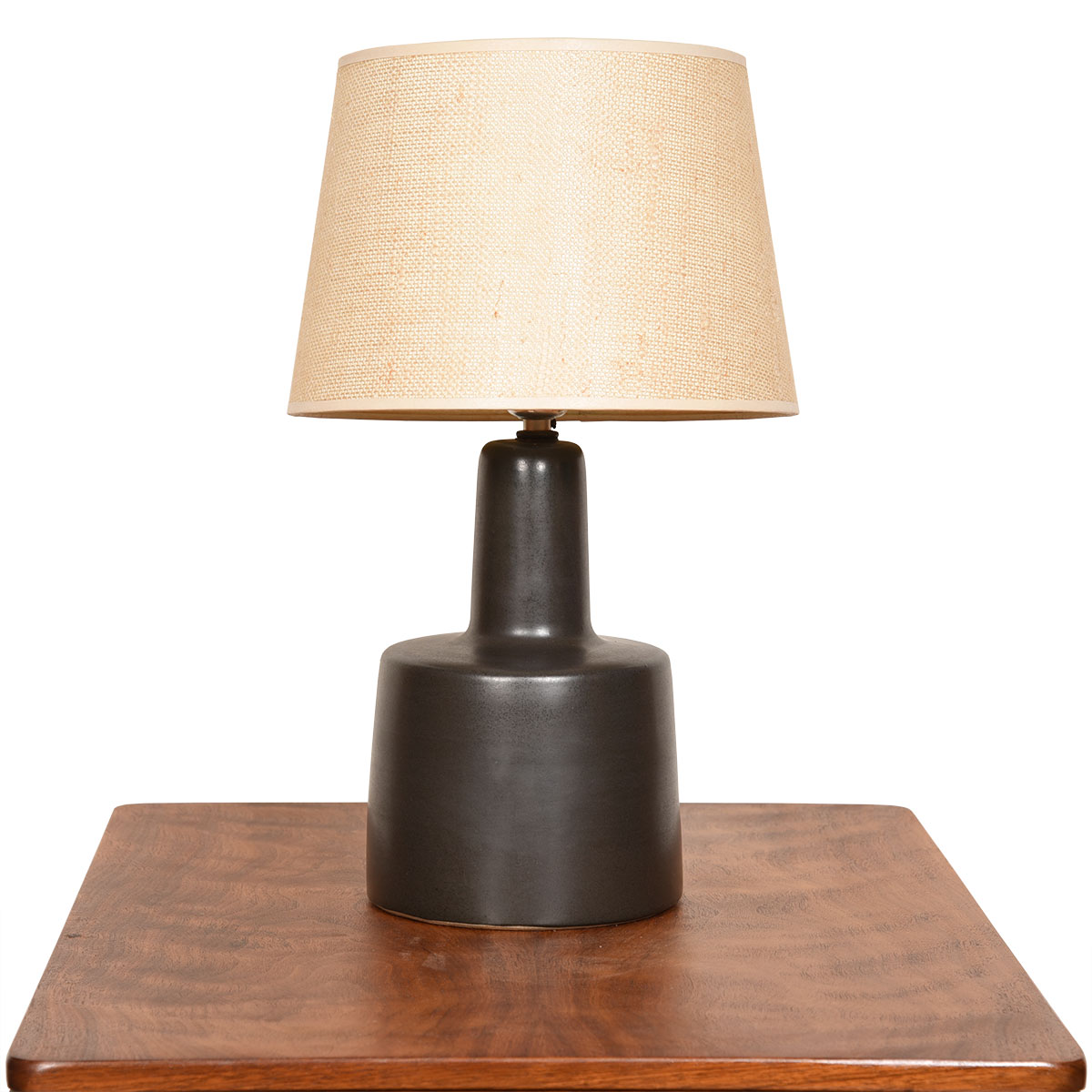 Mini-Martz Black Matte Ceramic Lamp