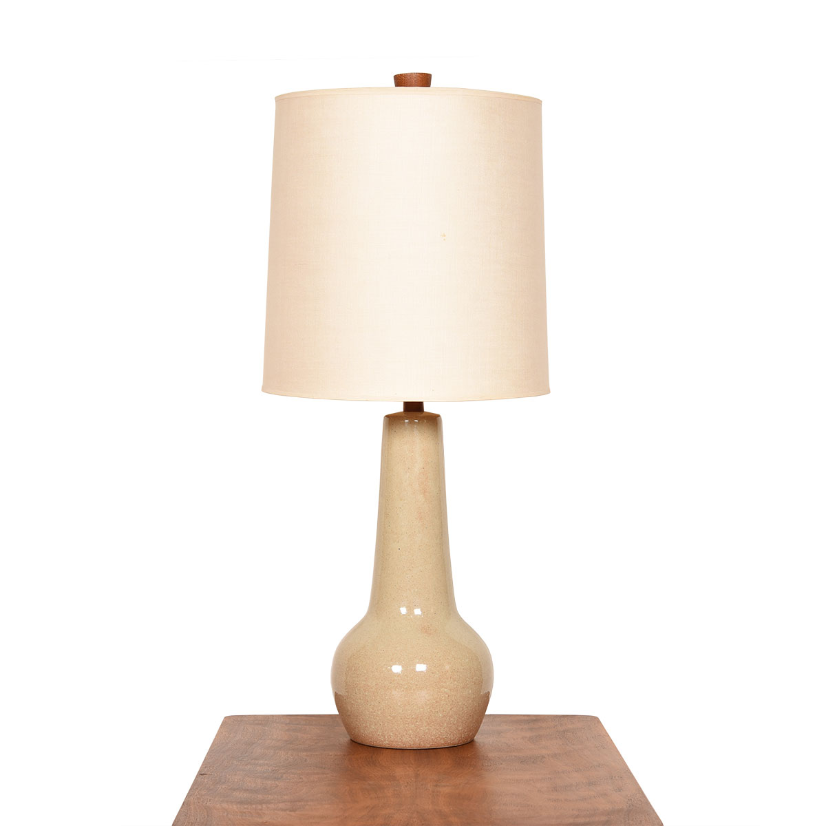 Martz Tall & Sculptural Off-White Ceramic Lamp