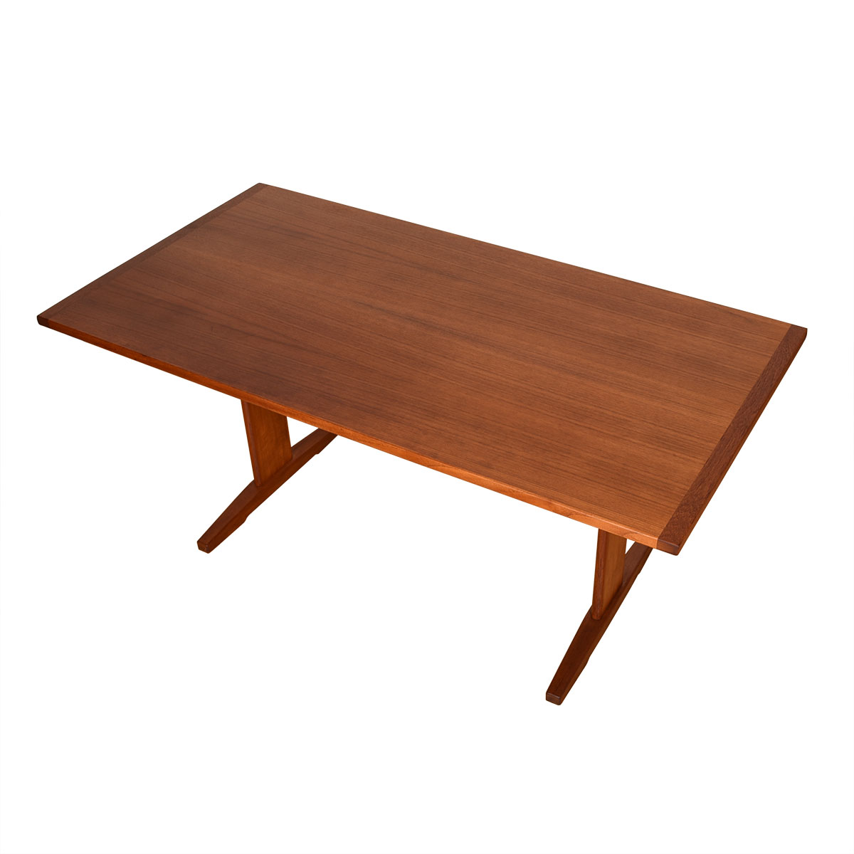 Danish Modern Teak Trestle Dining Table / Desk