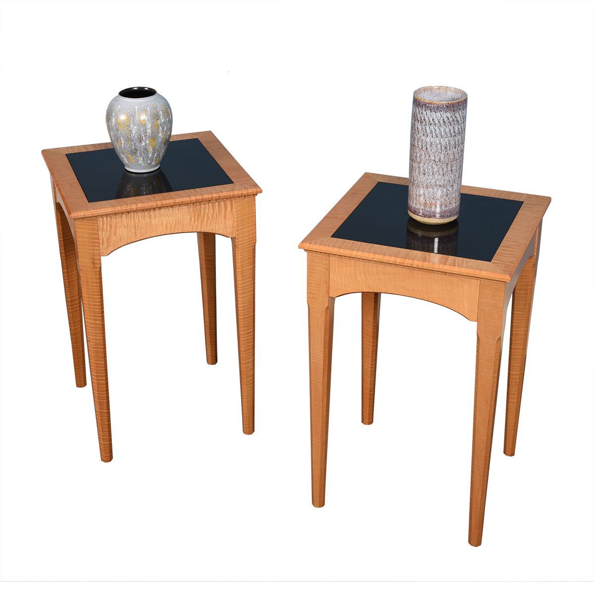 Pair Tall Contemporary Accent / Side Tables