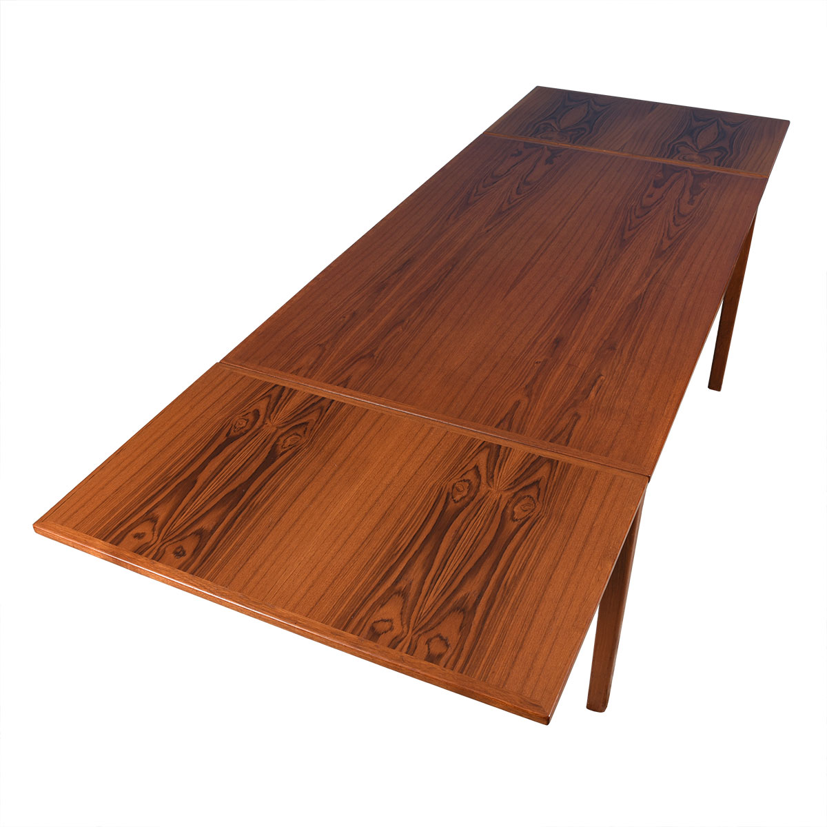 Mid-Sized Danish Modern Teak Expanding Dining Table