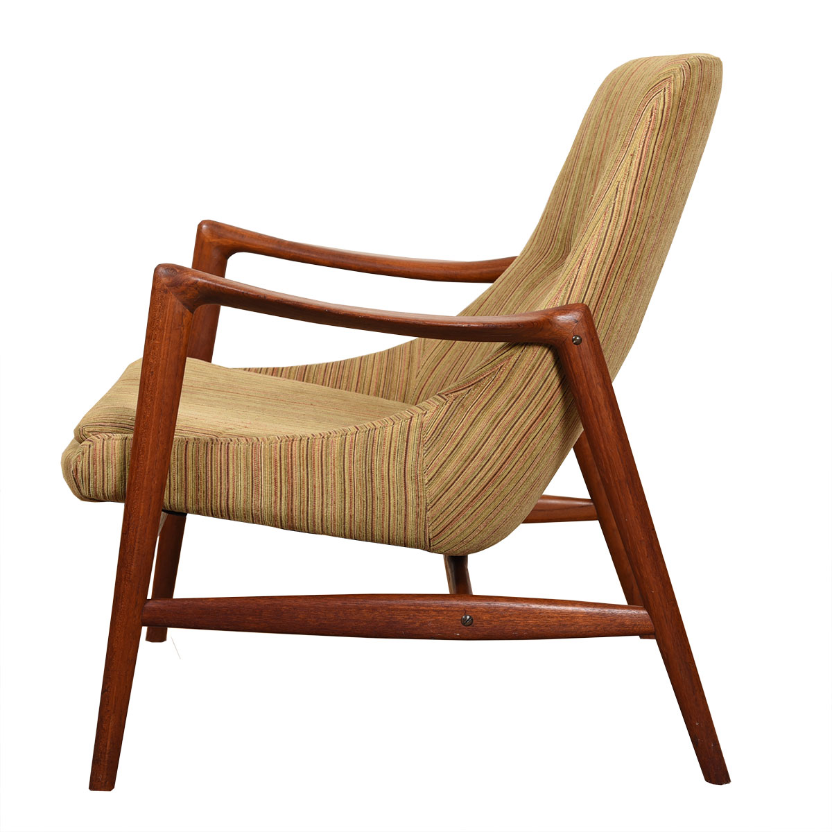 Sculpted Danish Modern Teak Accent Chair