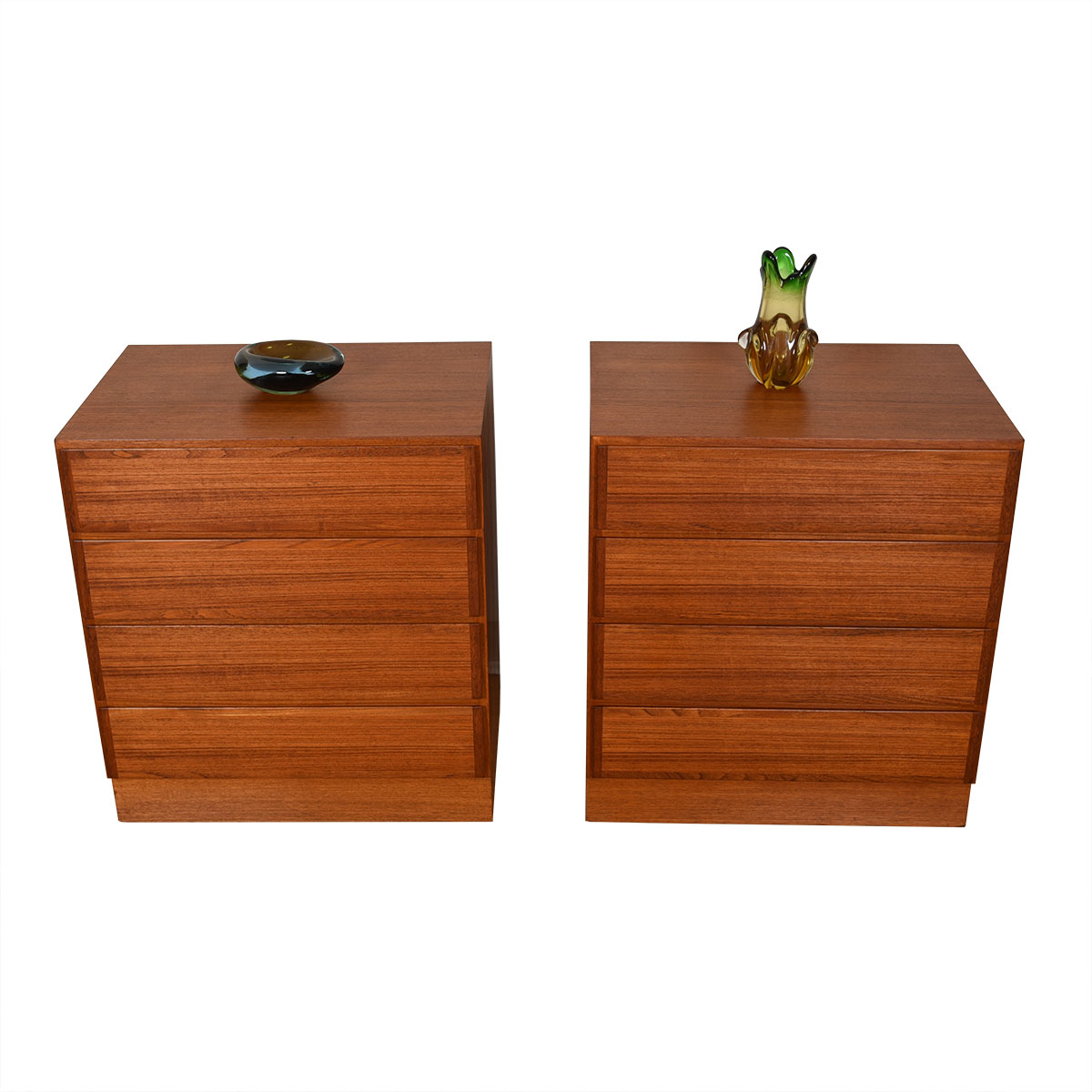 Omann Jun. Pair of Danish Teak Petite Chests of Drawers / Nightstands