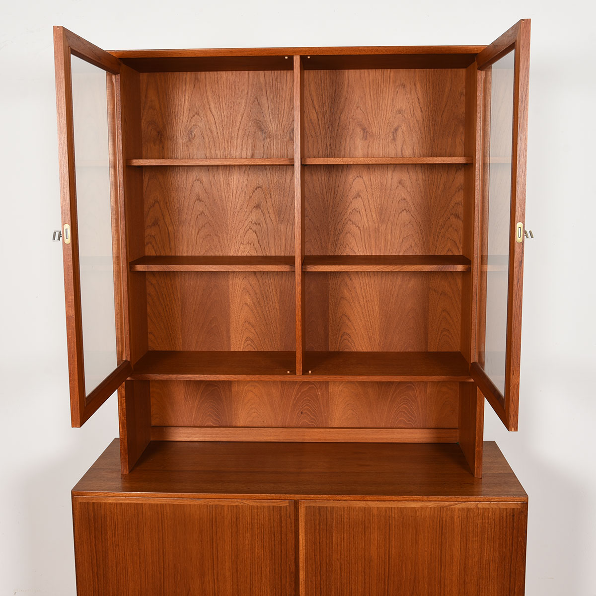 Compact 2-Piece Display / Storage Cabinet