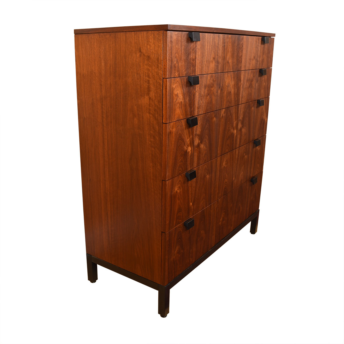 1950's American Modernist Tall Gorgeous Walnut Dresser