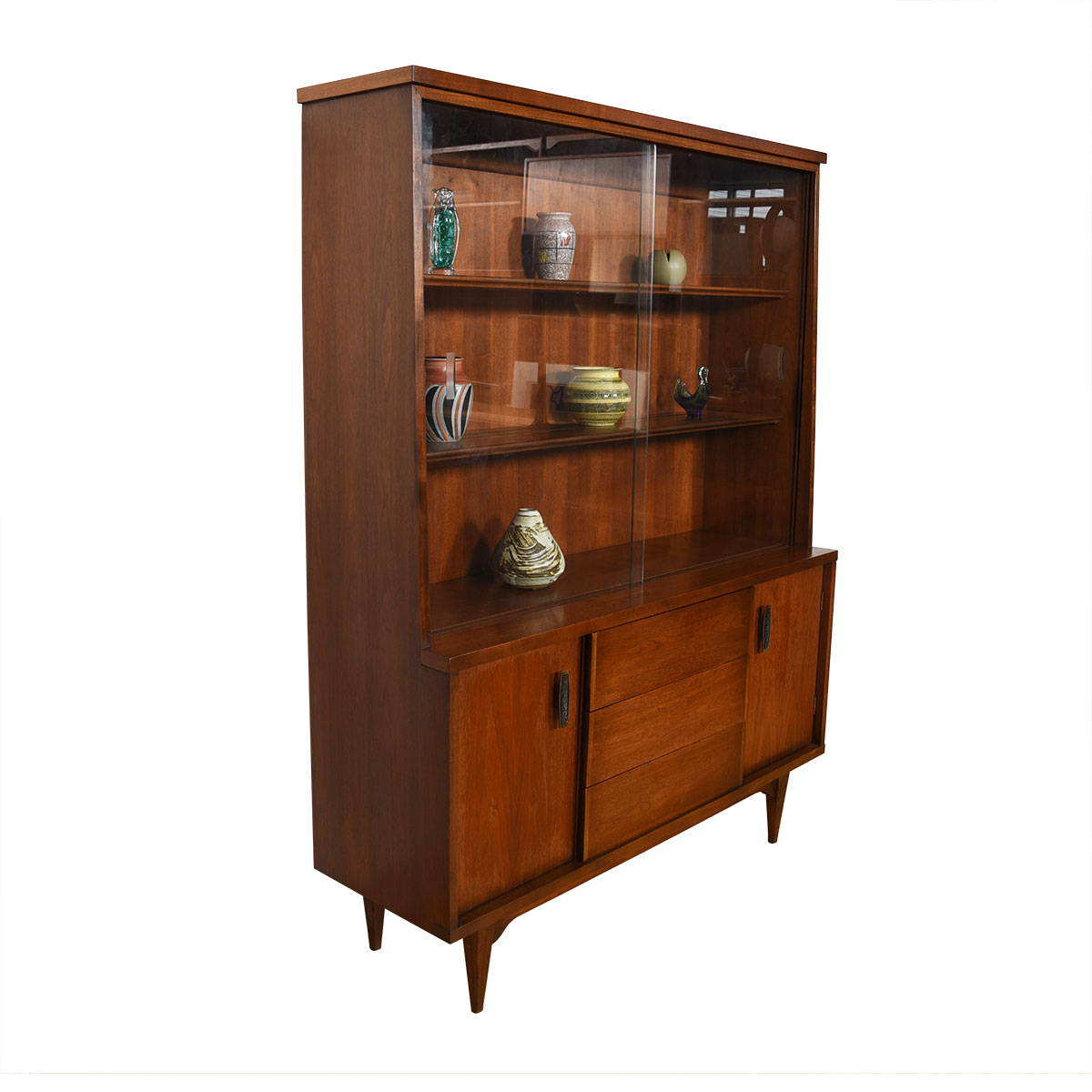 Mid Century Modern Walnut Storage / Display Cabinet