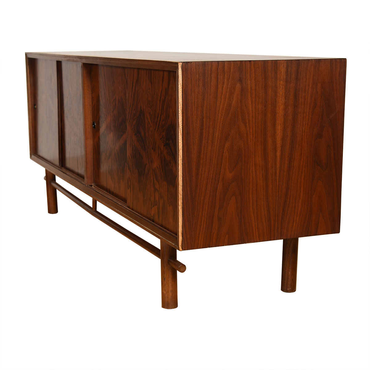 Low Mid Century Rosewood & Walnut Media Sideboard