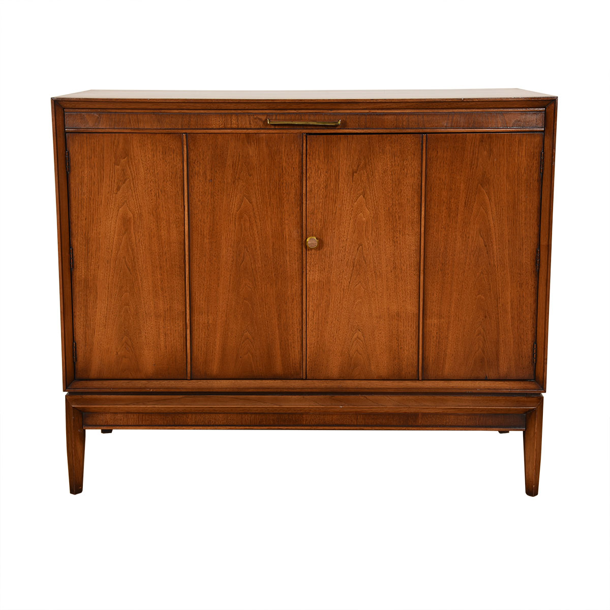 Drexel Mid Century Modern Walnut Serving / Bar Cabinet