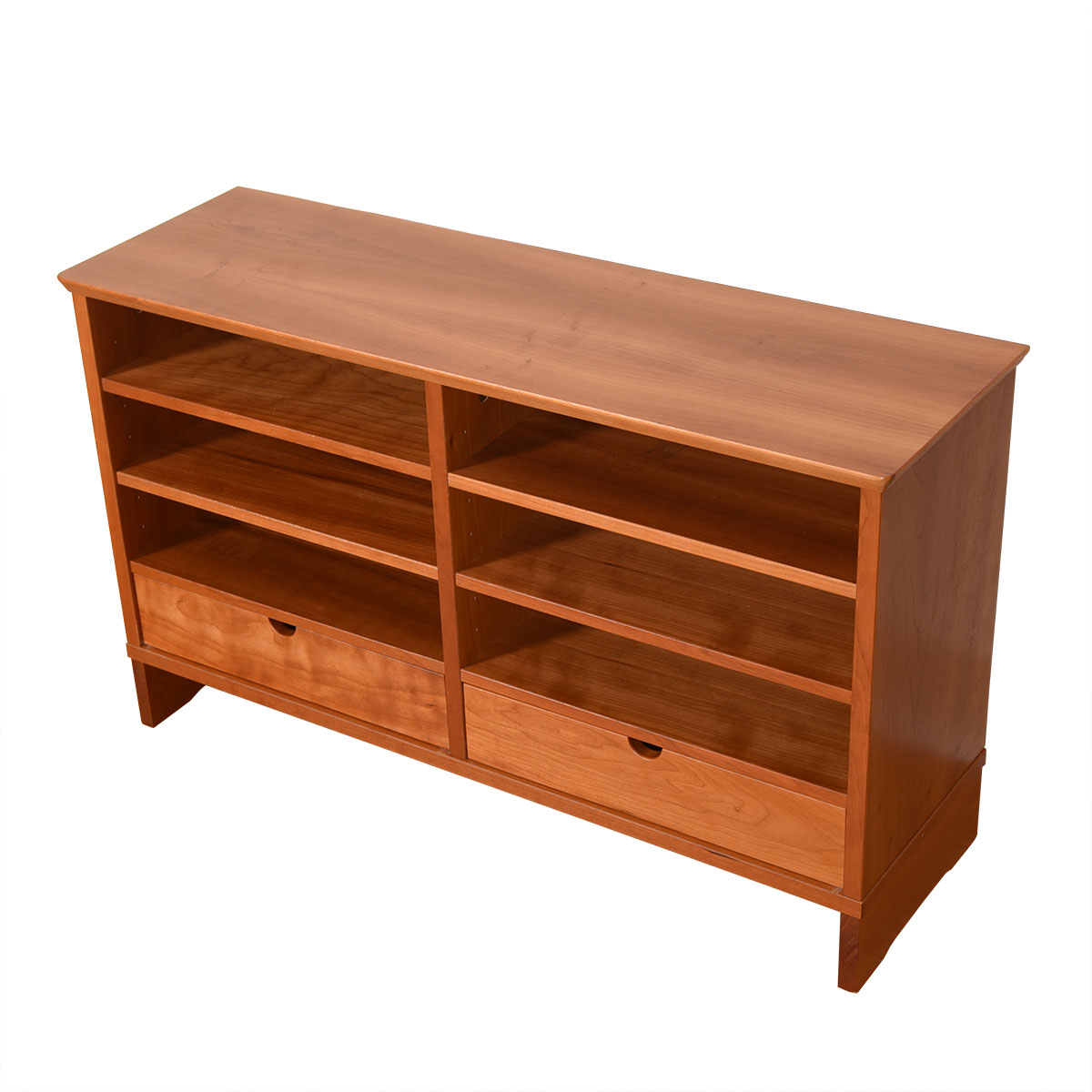 Solid Cherry Desk Organizer w/ Drawers & Open Storage