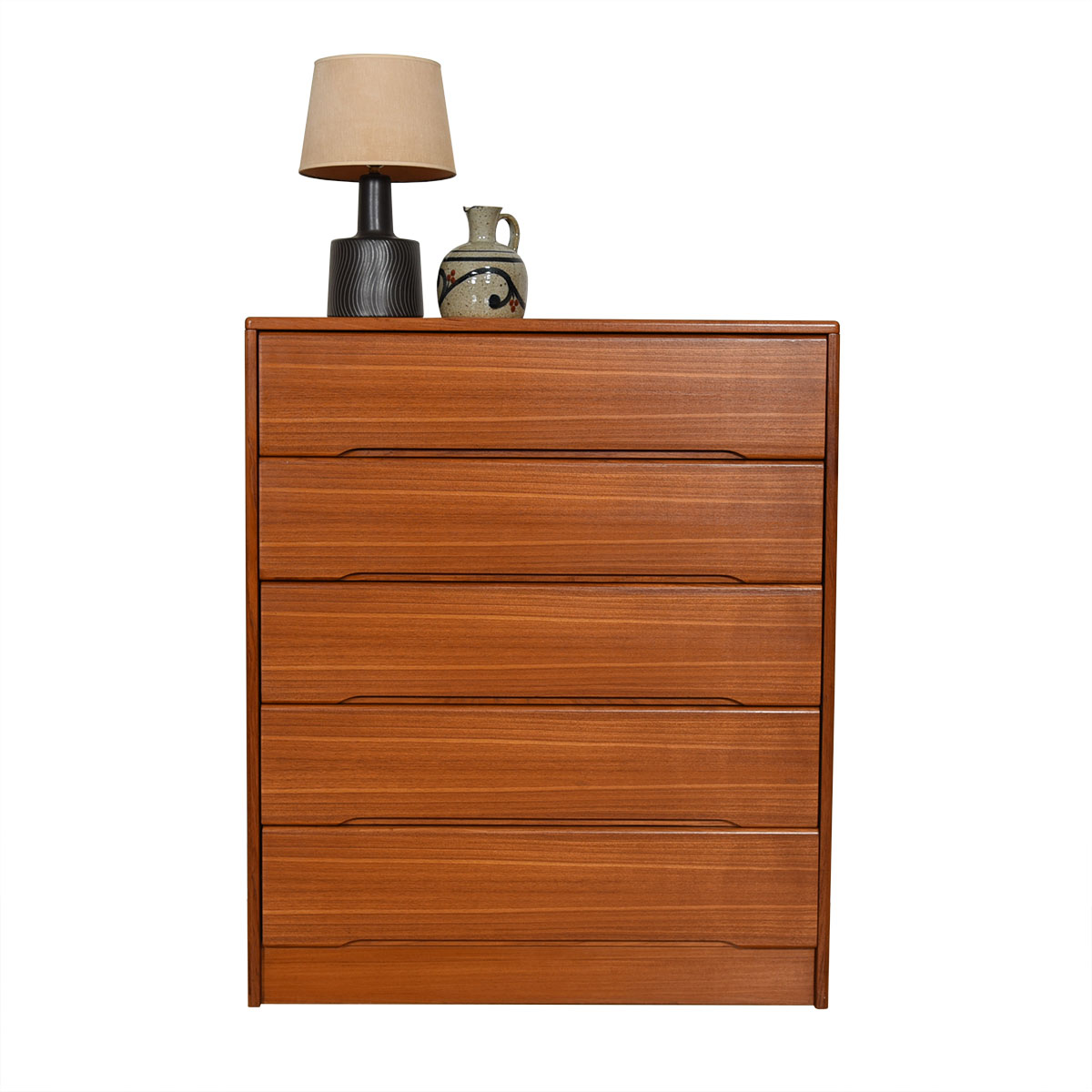Danish Teak Tall 5-Drawer Dresser