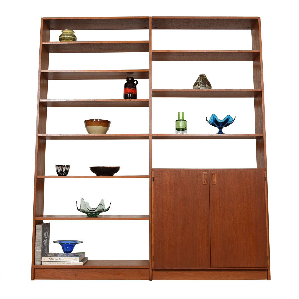 Danish Modern Teak Wall Unit / Bookcase w/ Storage Cabinet