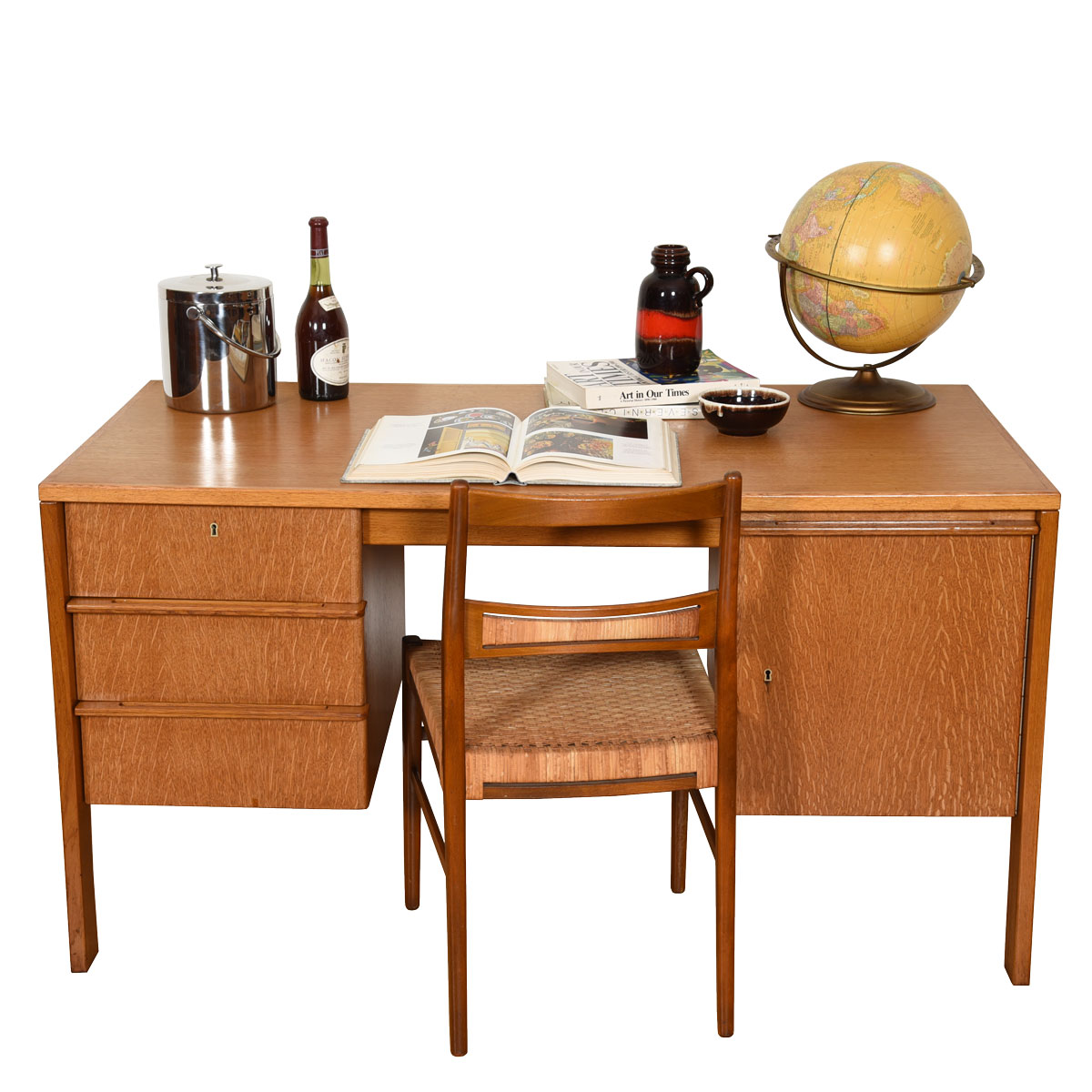 Edmund Spence Locking Scandinavian Modern Compact Desk