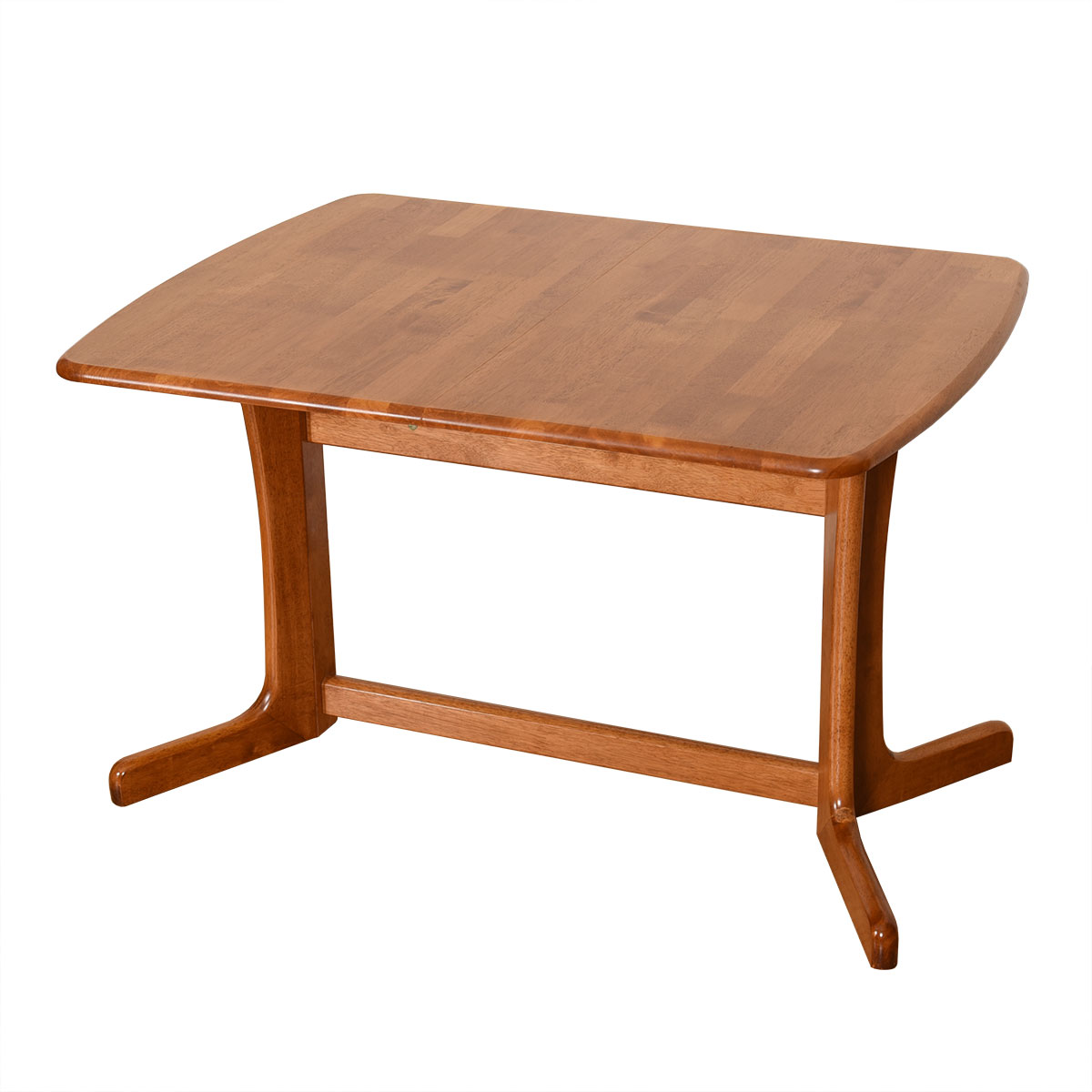 Apartment Sized Danish Teak Expanding Dining Table w/ Butterfly Leaf