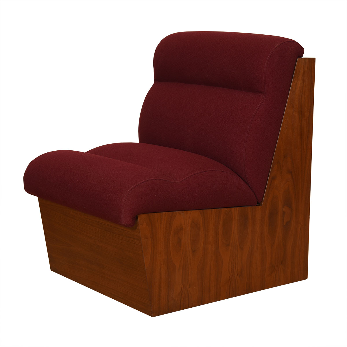 Cubist Walnut Occasional Chair a Modernist Commissioned Chair