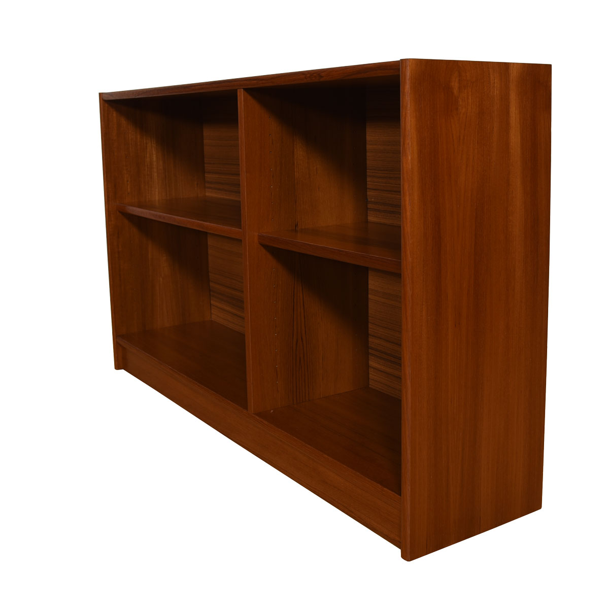 Danish Modern Teak Low Bookcase