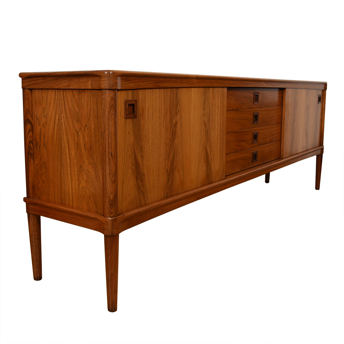 Danish Modern Rosewood Sliding Door Room Divider / Sideboard