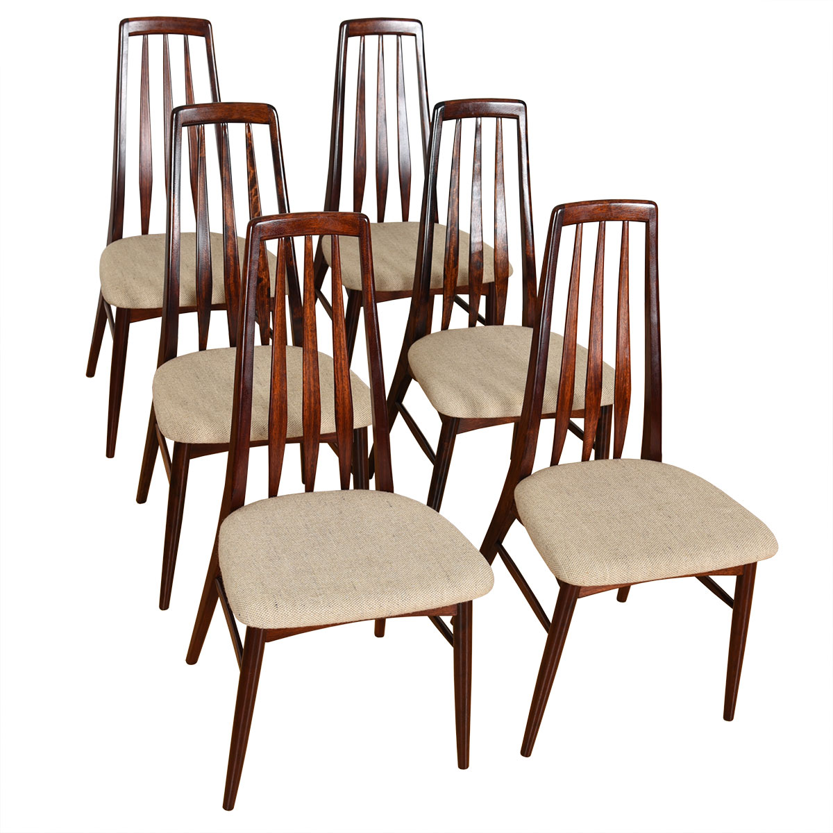 Set of 6 Danish Rosewood Dining Chairs by Koefoeds Hornslet