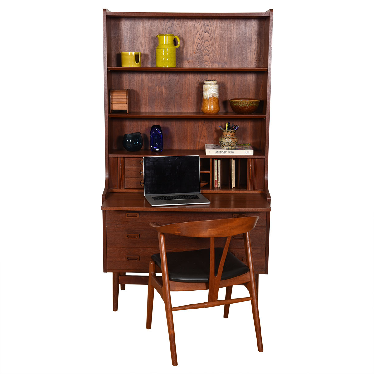 Danish Modern Teak Bookcase / Display / Secretary